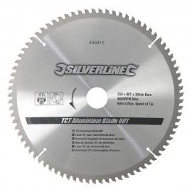 Lame scie circulaire TCT pour l'aluminium 80 dents Ø 250mm