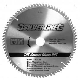 Lame scie circulaire TCT pour placages 80 dents Ø 250mm