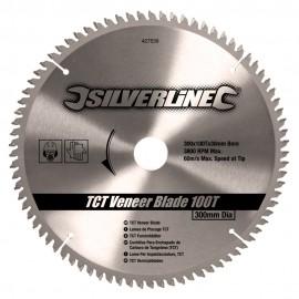 Lame scie circulaire TCT pour placages 100 dents Ø 300mm