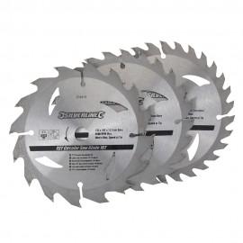 3 lames scie circulaire TCT 16, 24 et 30 dents